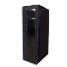 Acconet 27U 19″ Assembled Rack, 1000mm Deep, Black, Clear Glass Door with Lock, 4 220V Fans, 2Shelve